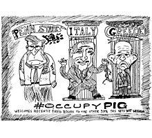Occupy PIG editorial cartoon Photographic Print