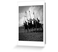 Victorian Army - Charging Greeting Card