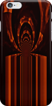 Inside the flames of passion and destruction - phone case by Scott Mitchell