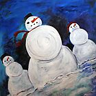 Snowman Trio by Denice Taylor Rinks