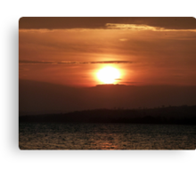 Inch Island November Sunset 2 Canvas Print