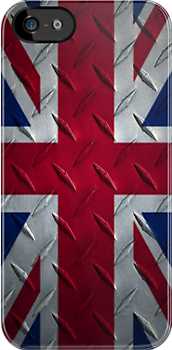 Union Jack Metal  ( iPhone Case ) by PopCultFanatics