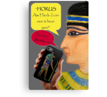 Cleopatra goes iPhone Canvas Print