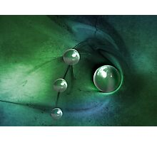 Green Pearls Photographic Print