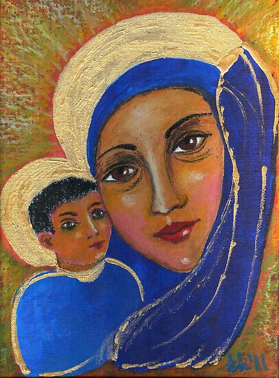 madonna and child by Elena Malec