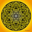 Mandala Drawing 28 YELLOW Prints, Cards & Posters by mandala-jim