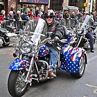 Stars and stripes Harley by Kodachrome 25 ASA
