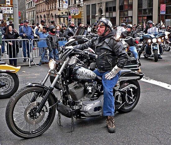 Harley at Veteran's Parade by Kodachrome 25 ASA
