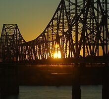 Sunrise on the McKinley Bridge ~ In Color and Black and White by barnsis