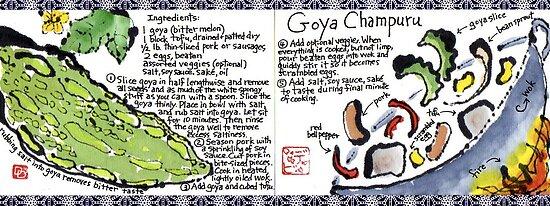 Illustrated Recipe: Goya Champuru by dosankodebbie