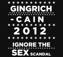 Newt Gingrich - Herman Cain 2012 by BNAC - The Artists Collective.