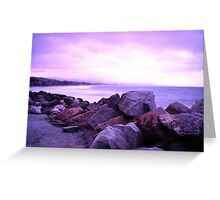 Half Moon Bay - Rose Rocks Greeting Card