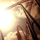 Superman Escape Roller Coaster I by Andrejs Jaudzems