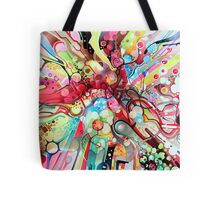 Time-Lapse Geometry Battle - Watercolor Painting Tote Bag