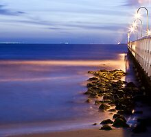 Port Melbourne Beach Jetty by Ruben D. Mascaro
