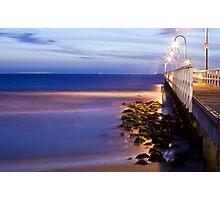 Port Melbourne Beach Jetty Photographic Print