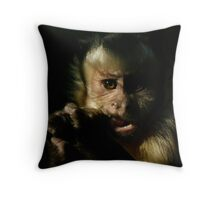 Black-capped Capuchin Monkey Throw Pillow