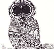 ZenTangle Owl 2 by Kerryn Rowe