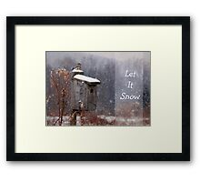 Let It Snow - Greeting Card Framed Print
