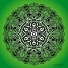 Mandala Drawing 30 GREEN Prints, Cards & Posters by mandala-jim