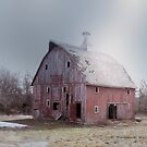 Red Barn in November by Jing3011