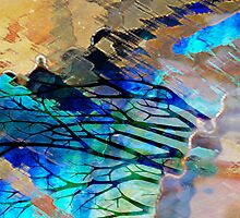 Winter Rain_Reflections In Abstract Series by Diane Johnson-Mosley
