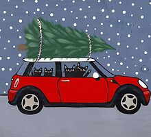 Red Mini Christmas Tree by Ryan Conners