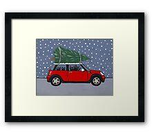 Red Mini Christmas Tree Framed Print