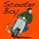 Scooter Boy Old Skool riding by velocitygallery