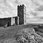 Brentor Church - Devon - mono by Dave Lawrance