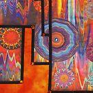Stairway to 1977  - Detail I by Pamela Gregan