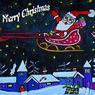 Santas Rides Tonight by Monica Engeler