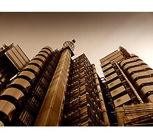 Lloyds' metallic turrets, Gresham Street, London Photographic Print