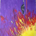 hanging a rat on fire.. by Fawaz Trad