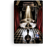The Alice Series: A Glass Table Canvas Print