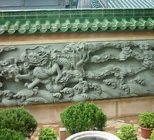 Magestic Fearsome Dragon Mural by Joseph Green