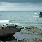 Lifeguard on patrol, Tanah Lot, Bali by Hicksy