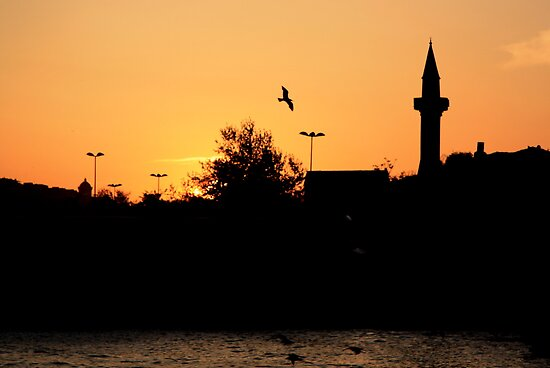 Sunset over the Bosphorus by Christine Oakley