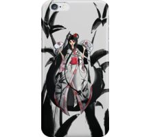 Geisha in White with Bamboo and Poinsettia iPhone Case/Skin