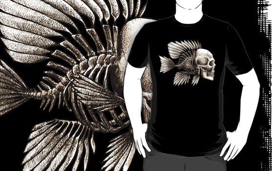 Skull Fish by beanarts