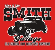 Mrs.& Mr. Smith Hot-Rod Garage by htrdesigns