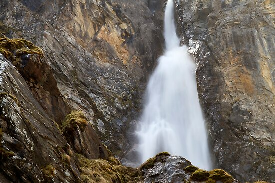 Alpine Waterfall by Walter Quirtmair