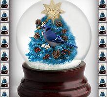 ˚✰˚ ˛★* 。 ˛CHRISTMAS TREE BLUE JAY SNOW GLOBE  ˚✰˚ ˛★* 。 by ✿✿ Bonita ✿✿ ђєℓℓσ
