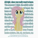 Fluttershy Critique by anjila