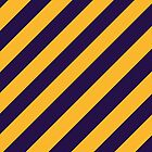 Los Angeles Lakers stripes by Nikola Kantar