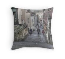 Christmas Steps in Bristol Throw Pillow
