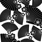 Black on white fans by Lisa Taliana