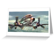 The Douglas C47 Dakota - HDR Greeting Card