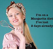 Vintage Margarita Poster by Jude Gidney