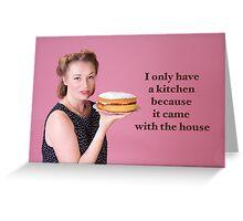 Vintage Kitchen Poster Greeting Card